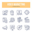 video marketing doodle icons vector image vector image