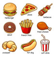 vocabulary food vector image vector image