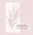 wedding rose palm tender soft invitation floral vector image vector image