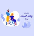 world disability day colorful vector image vector image