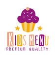 premium quality kids food cafe special menu for vector image