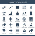 25 way icons vector image vector image