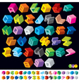 3D isometric alphabet vector image vector image