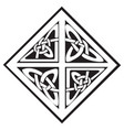 a square celtic knots design vector image