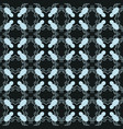 abstract geometric seamless pattern on a black vector image vector image