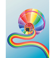Air balloon with rainbow2 vector image