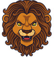 angry lion head mascot vector image