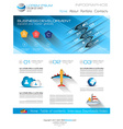 Attractive Modern Business Web Template with flat vector image vector image