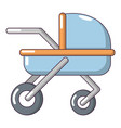 baby carriage family icon cartoon style vector image vector image