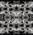 baroque seamless pattern black and white vector image vector image