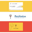 beautiful trident logo and business card vertical vector image