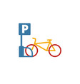 bicycle parking icon simple element from city vector image vector image