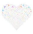 big bang fireworks heart vector image vector image