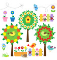 Birds flowers and insects vector | Price: 1 Credit (USD $1)