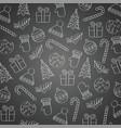 blackboard christmas background vector image vector image