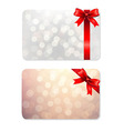 Bows And Blank Gift Tags vector image vector image