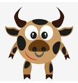 bull farm animal vector image vector image