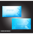 Business Card template set 56 Dark light blue and vector image vector image