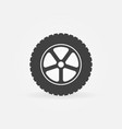 car wheel minimal icon vector image vector image