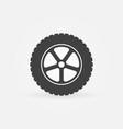 car wheel minimal icon vector image
