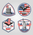 colored vintage independence day emblems set vector image vector image