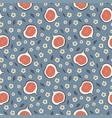 cute seamless pattern with figs and flowers vector image