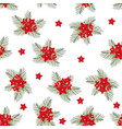 cypress vine flower on christmas white background vector image vector image