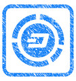 dash pie chart framed stamp vector image vector image