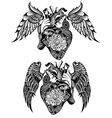 Decorative Human heart tattoo vector image vector image
