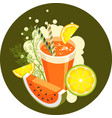 detox health cocktail vector image vector image