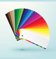 developed color swatches palette with bright vector image