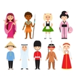 Different nations people vector image