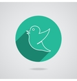 Drawing of a bird holding for social media tag vector image vector image