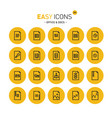 easy icons 20c files vector image vector image