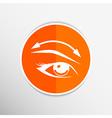 Eyelashes and eyebrows eyelash eye icon makeup vector image vector image
