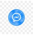 facebook messenger social media icon design vector image vector image