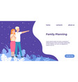 family planning landing page young man and woman vector image vector image