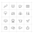 farming icons vector image vector image
