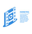 filmstrip play icon isometric 3d vector image