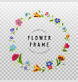 floral wreath on transparent background vector image vector image