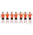 footballer character constructor soccer player vector image vector image