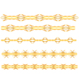 gold seamless border vector image vector image