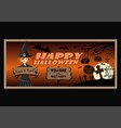 halloween greeting card wit cute young witch vector image