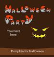 halloween party background with pumpkin vector image vector image