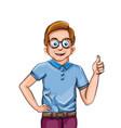 happy boy smiling cartoon character vector image vector image