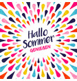 hello summer german vacation typography vector image vector image