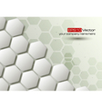 Hexagons technology and communication background vector image vector image