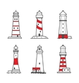 icon or logo set of lighthouses vector image vector image