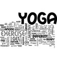 is yoga for you text background word cloud concept vector image vector image