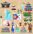 korea korean traditional culture symbol of vector image